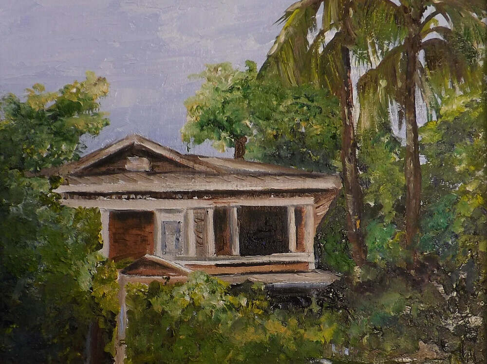 Polly berlin artist palette knive paintings ts old home - An artists home ...