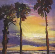 #1534 Palms & Sunset