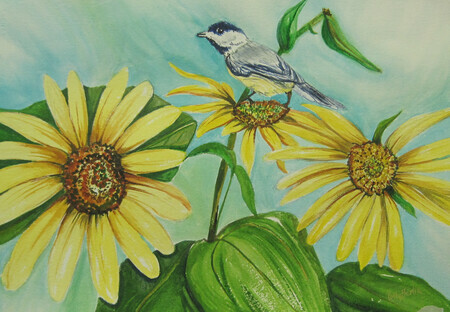 Chickadee - Watercolor