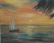 Sailing at Sunrise - Sold