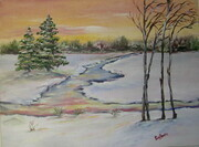 Winter Sunset Sold